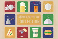 Retro drinks food icon vector