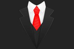Creative black suit design vector