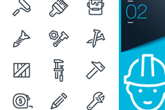 15 decorating tool icon vector