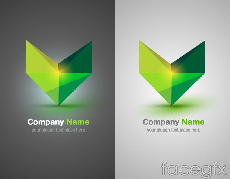 V Company Logo Exquisite color v-shaped logo