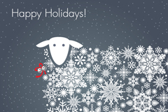 White sheep holiday background vector