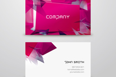 Abstract of stylish business card vector