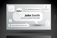 Personalized business cards design vector