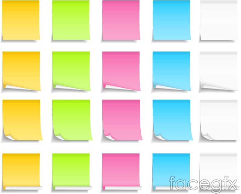 Colorful sticky notes design vector – Sticky Note Template