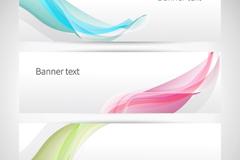 3 colour curves decorative banner vector