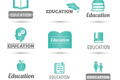9 fresh education logo vector
