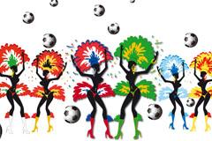 Brazil samba football background vector
