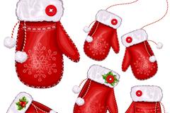 Cartoon gloves Christmas vector