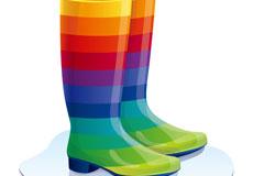Cartoon Rainbow boots vector