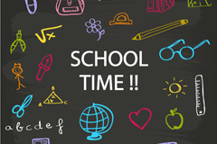 Painted campus time background vector