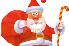 Red nosed Santa Claus cartoon vector