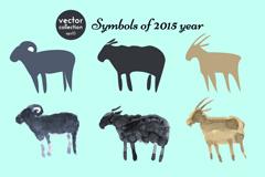 9 creative sheep silhouette design vector