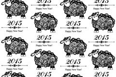 Black sheep seamless vector background