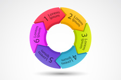 Colorful ring information-design vector