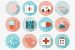 16 delicate medical icon vector