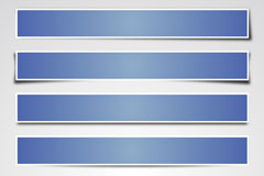 Blue paper banner vector