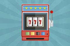 Cartoon slot machines design vector