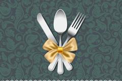 Exquisite menu cover design vector