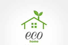 Fresh and eco-friendly logo vector