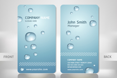 Individuality beads business card design vector