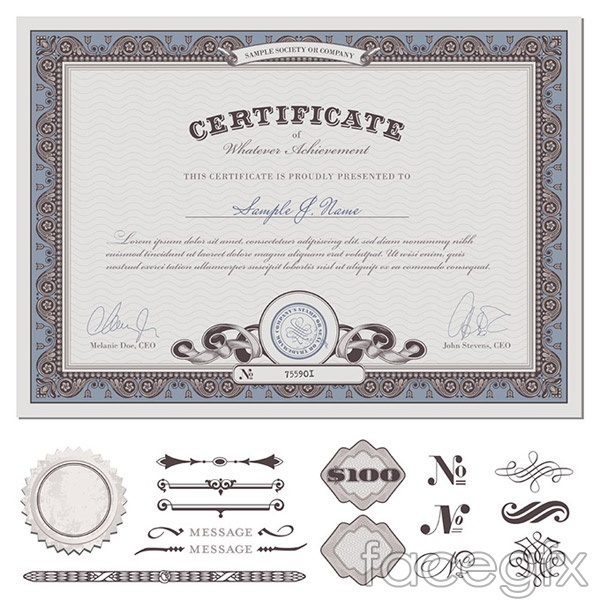 Classical European Certificate Vector
