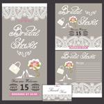 Lace wedding invitation cards vector