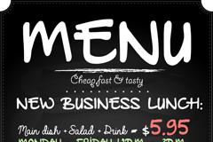 Exhibition of creative menu design vector