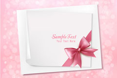 Pink Ribbon card background vector