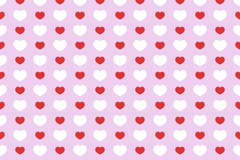Red and white hearts seamless vector background