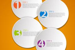 Creative Circle infographic vector