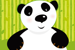 Lovely and honest Panda vector