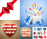 Bow tie and gift box vector