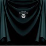 Background of dark green curtain fabric vector