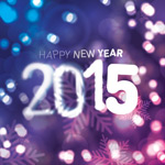 New year 2015 Bokeh vector