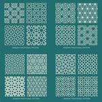 Openwork Arab backgrounds vector