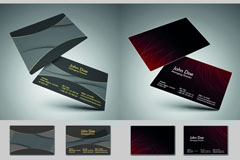 Fashion and creative business cards vector