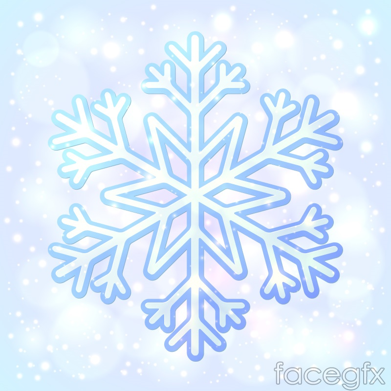 Blue ice crystal snowflakes and background vector   Free download