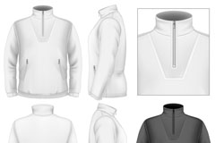 Collar Sweatshirt design vector