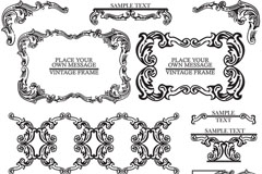 Elegant European-style patterned lace vector