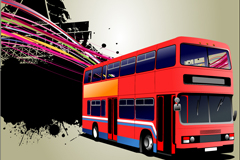 Red bus vector illustration