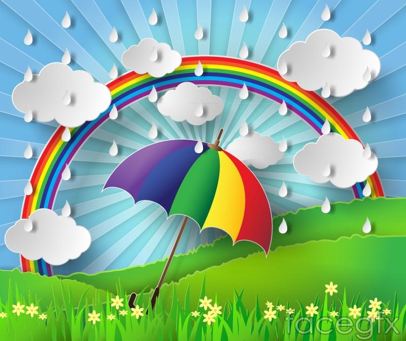 rainbow umbrella clip art - photo #11