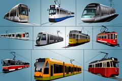 Nice tram vector
