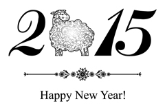 2015 simple sheep background vector