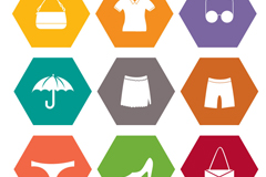 9 clothing and accessories icon vector