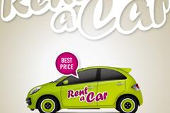 Stylish cab vector illustration