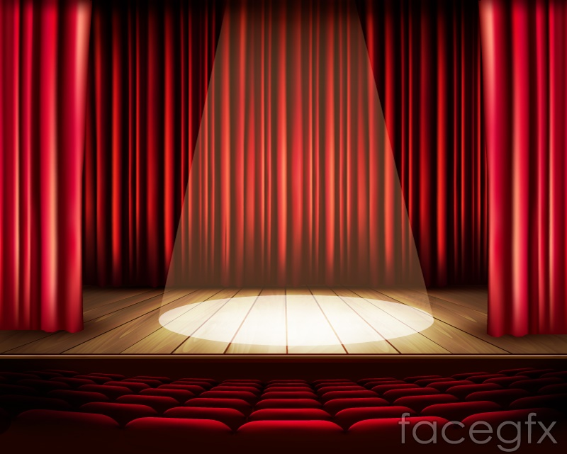 Stage And Spotlight Design Vector Free Download