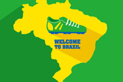 Brazil World Cup map background vector