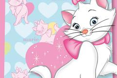Cartoon cat Mary background vector