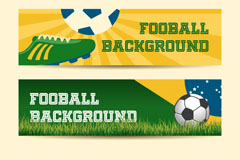 Creative football banner vector