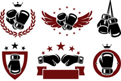 Exquisite boxing logo vector
